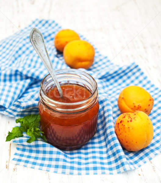 Apricots jam Stock photo © almaje