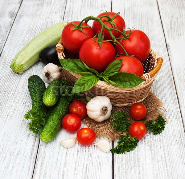 Frescos verano hortalizas edad alimentos Foto stock © almaje