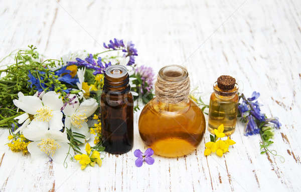 Nature oil with wildflowers Stock photo © almaje