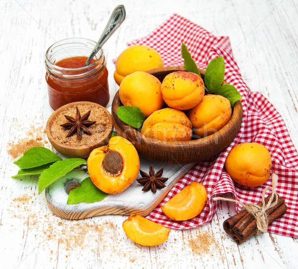 абрикос Jam свежие старые древесины Сток-фото © almaje