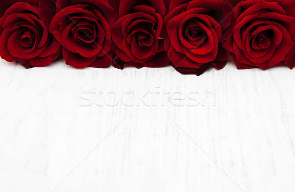 Stock photo: Fresh Red roses