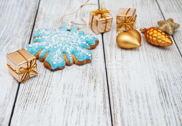 Christmas gingerbread cookie Stock photo © almaje