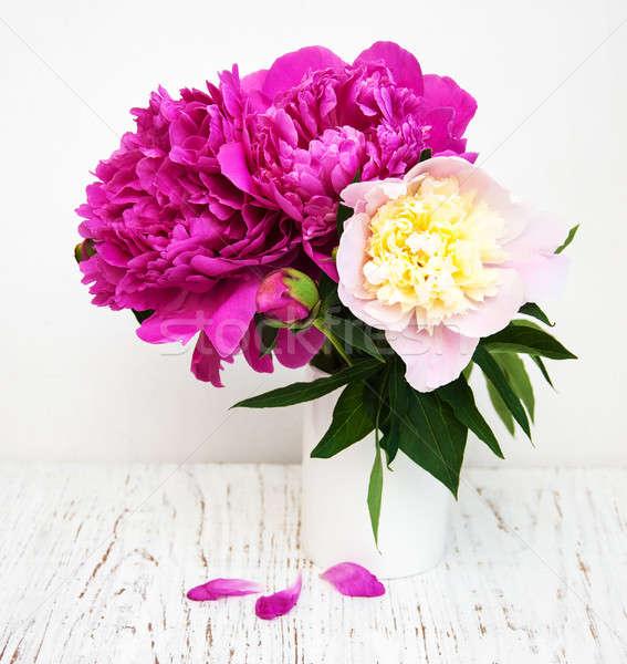 Peony flowers Stock photo © almaje