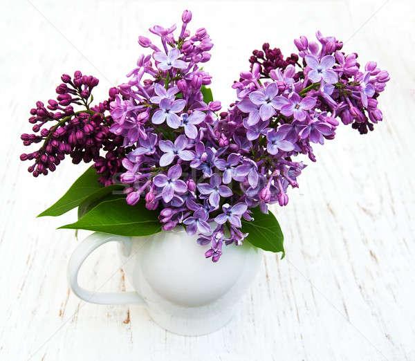 Stock fotó: Orgona · virágok · öreg · fából · készült · természet · háttér