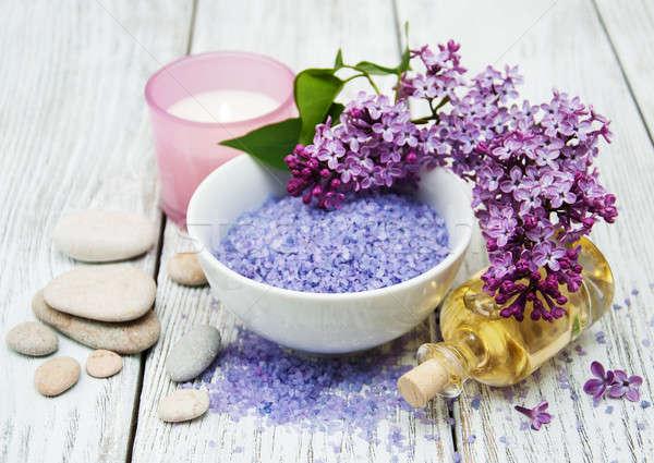 Сток-фото: Spa · сирень · цветы · массаж · продукции · тело