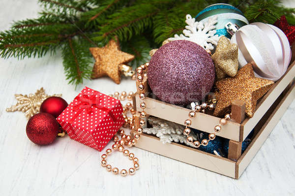 christmas decoration baubles Stock photo © almaje