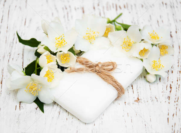jasmin flowers and soap  Stock photo © almaje