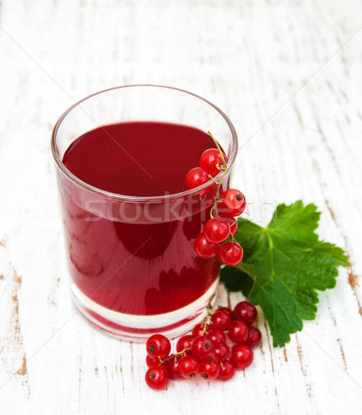 Summer drink with redcurrants Stock photo © almaje