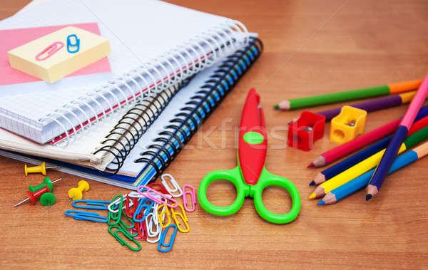 школьные принадлежности служба бумаги пер Сток-фото © almaje