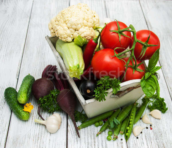 Fresh summer vegetables Stock photo © almaje