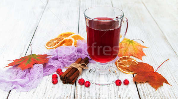 Hot mulled wine Stock photo © almaje