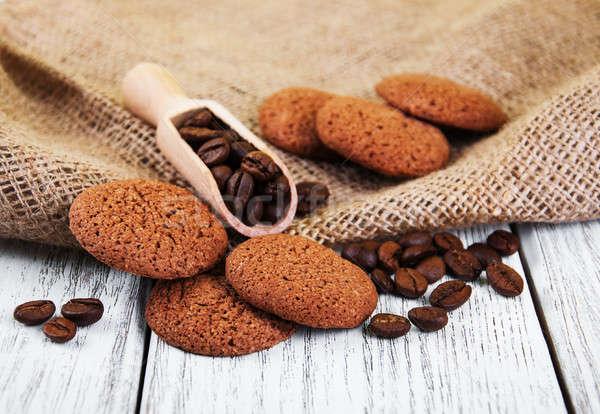 健康 オートミール クッキー 古い 木製のテーブル 背景 ストックフォト © almaje