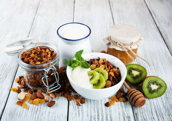 Granola cereal with nuts Stock photo © almaje