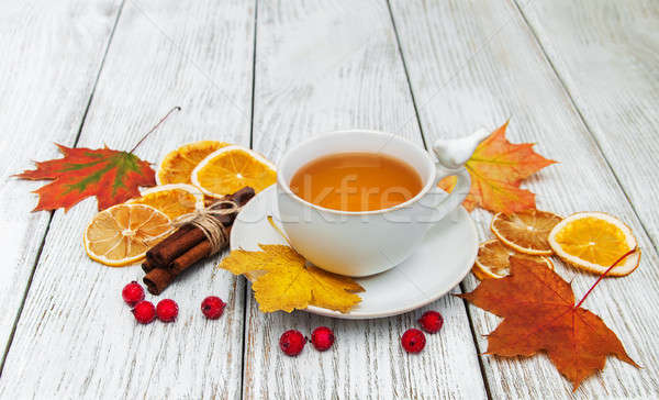 hot tea with spices Stock photo © almaje