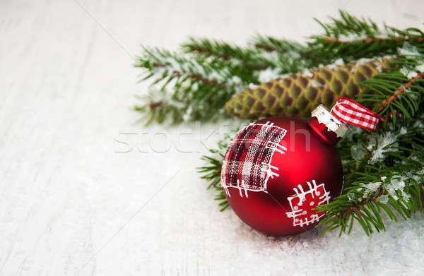 Natale decorazione gingillo ramo pino design Foto d'archivio © almaje