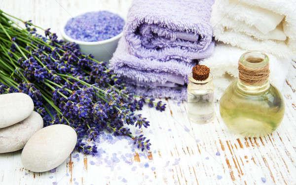 Spa productos lavanda flores edad Foto stock © almaje