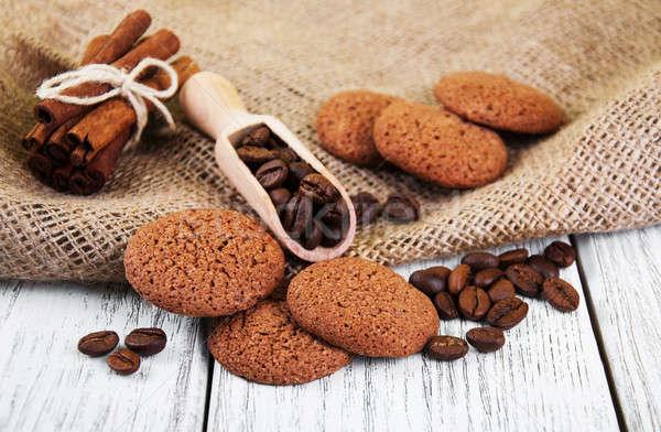 健康 オートミール クッキー 古い 木製のテーブル 食品 ストックフォト © almaje