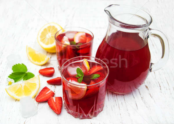 Summer strawberry drink Stock photo © almaje