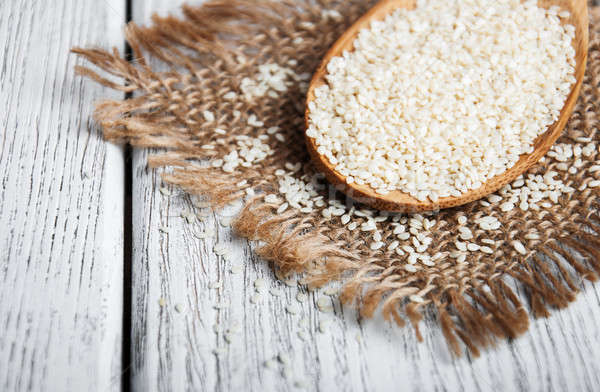 organic natural sesame seeds Stock photo © almaje