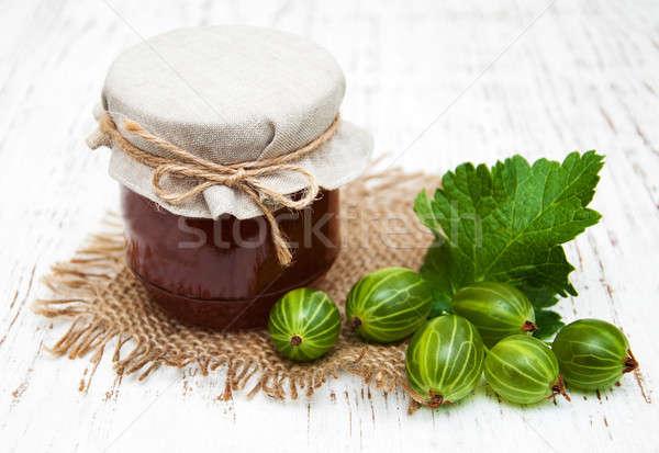 Stock photo: gooseberry jam