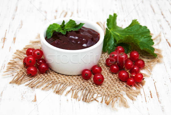 Redcurrants jam Stock photo © almaje
