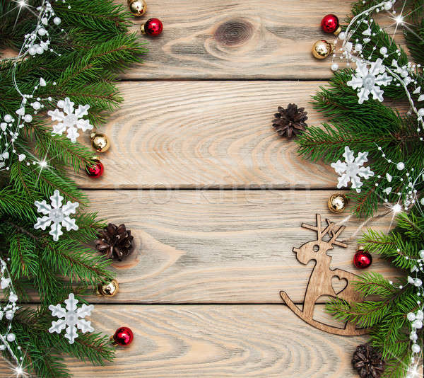 Christmas holiday background Stock photo © almaje