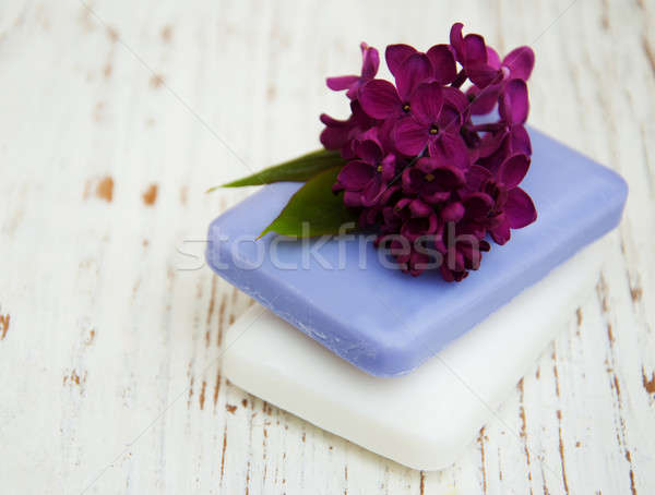 природного мыло сирень цветы ручной работы Сток-фото © almaje
