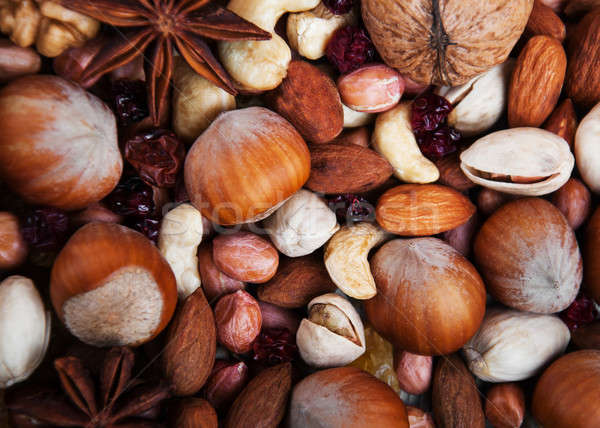 mix of nuts and cranberries Stock photo © almaje