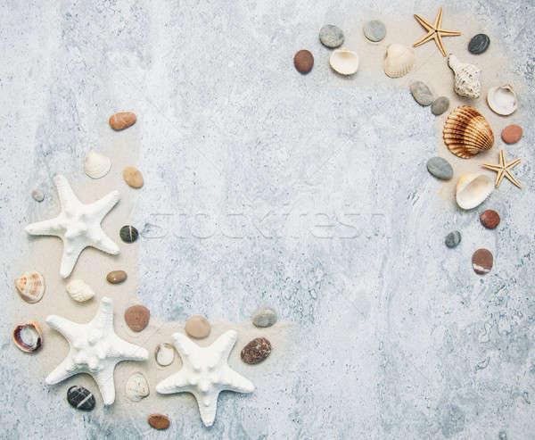Denizyıldızı sınır yaz kum plaj Stok fotoğraf © almaje