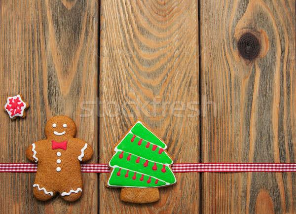 Navidad jengibre miel colorido cookies edad Foto stock © almaje