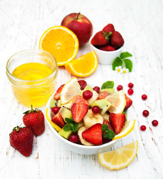 Salad with fresh fruits Stock photo © almaje