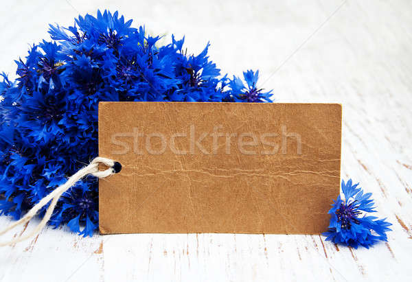 blue Cornflowers and card Stock photo © almaje