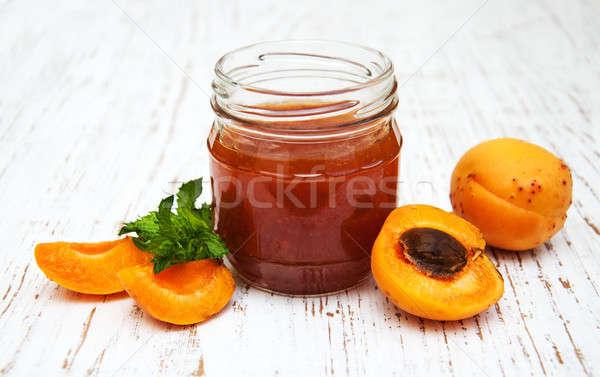 Apricots jam Stock photo © almaje