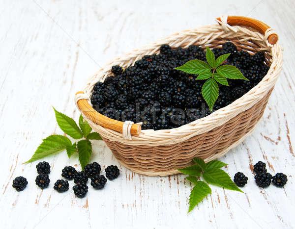 Cesta velho fruto saúde Foto stock © almaje