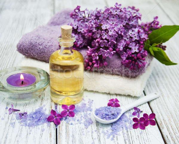 Spa lila flores masaje productos flor Foto stock © almaje