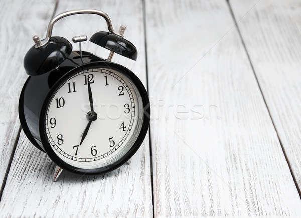 Black alarm clock  Stock photo © almaje