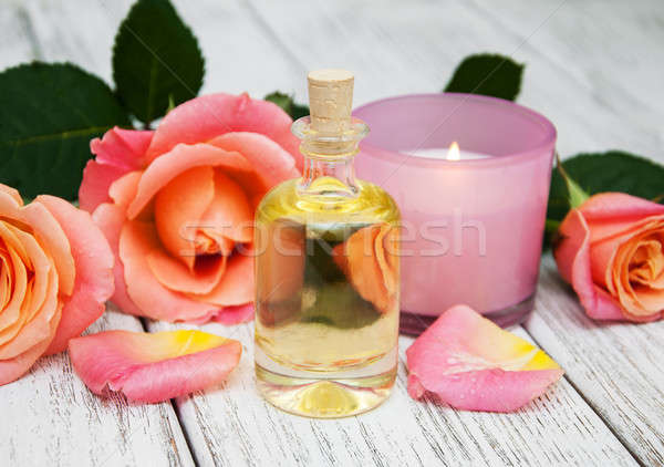 Stock photo: Spa concept with pink roses