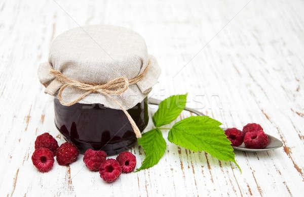 Raspberry  jam Stock photo © almaje