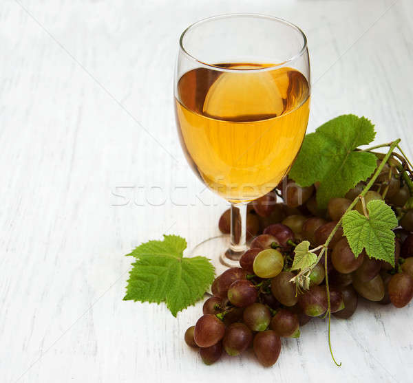 Vidro vinho branco uva comida Foto stock © almaje