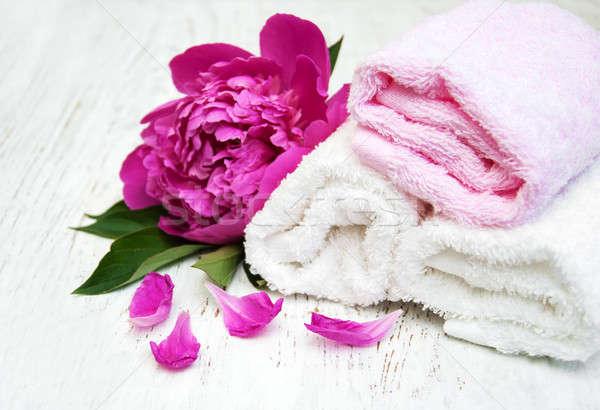 Peony with towels Stock photo © almaje