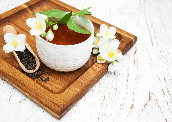 Кубок чай цветы цветок фон Сток-фото © almaje