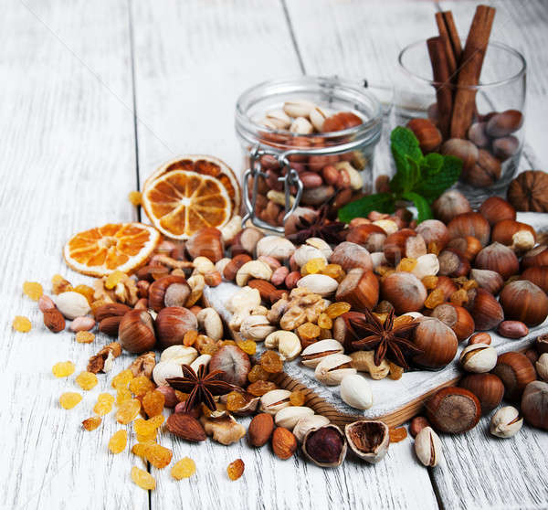 different types of nuts stock photo © Olena Rudo (almaje