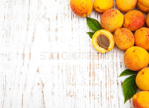 新鮮な 古い 木製 フルーツ 背景 フレーム ストックフォト © almaje