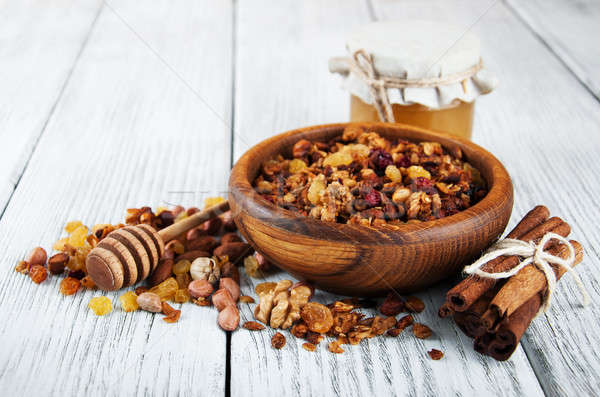 Homemade granola Stock photo © almaje