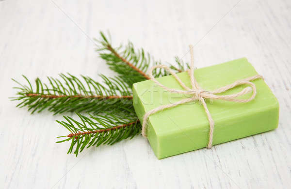 soap with needles branches Stock photo © almaje