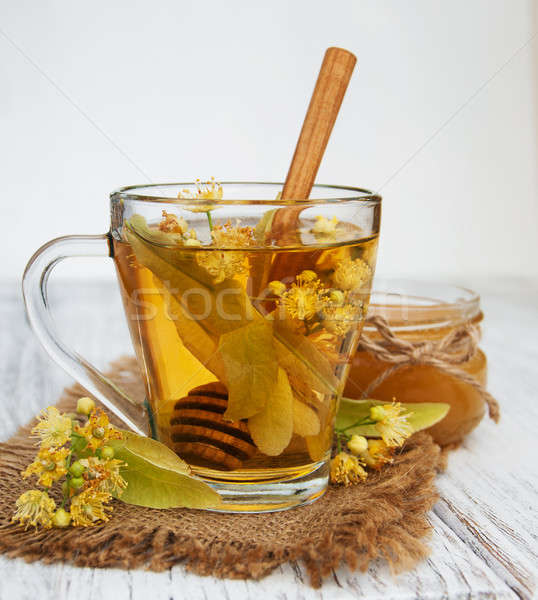 cup of herbal tea with linden flowers Stock photo © almaje