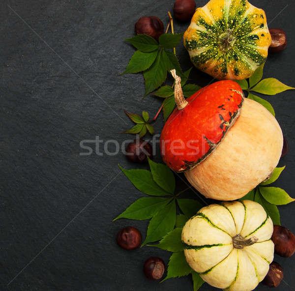 Abóboras preto pedra natureza folha Foto stock © almaje