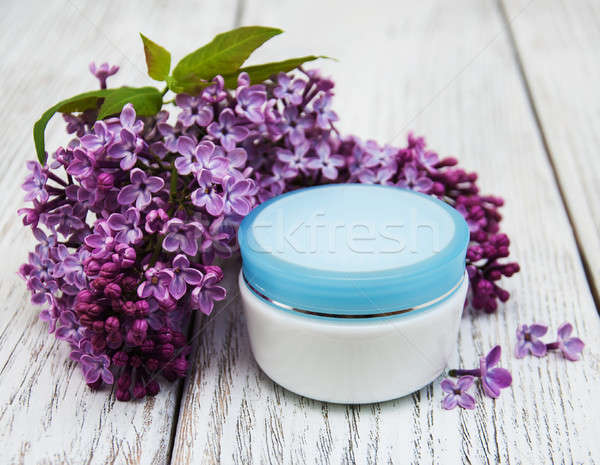кремом сирень цветы банка стороны Сток-фото © almaje