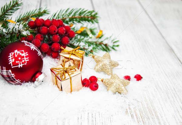 Zdjęcia stock: Christmas · dekoracje · śniegu · dekoracji · charakter