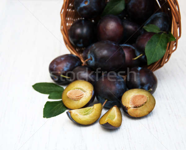 Stock photo: sweet plums
